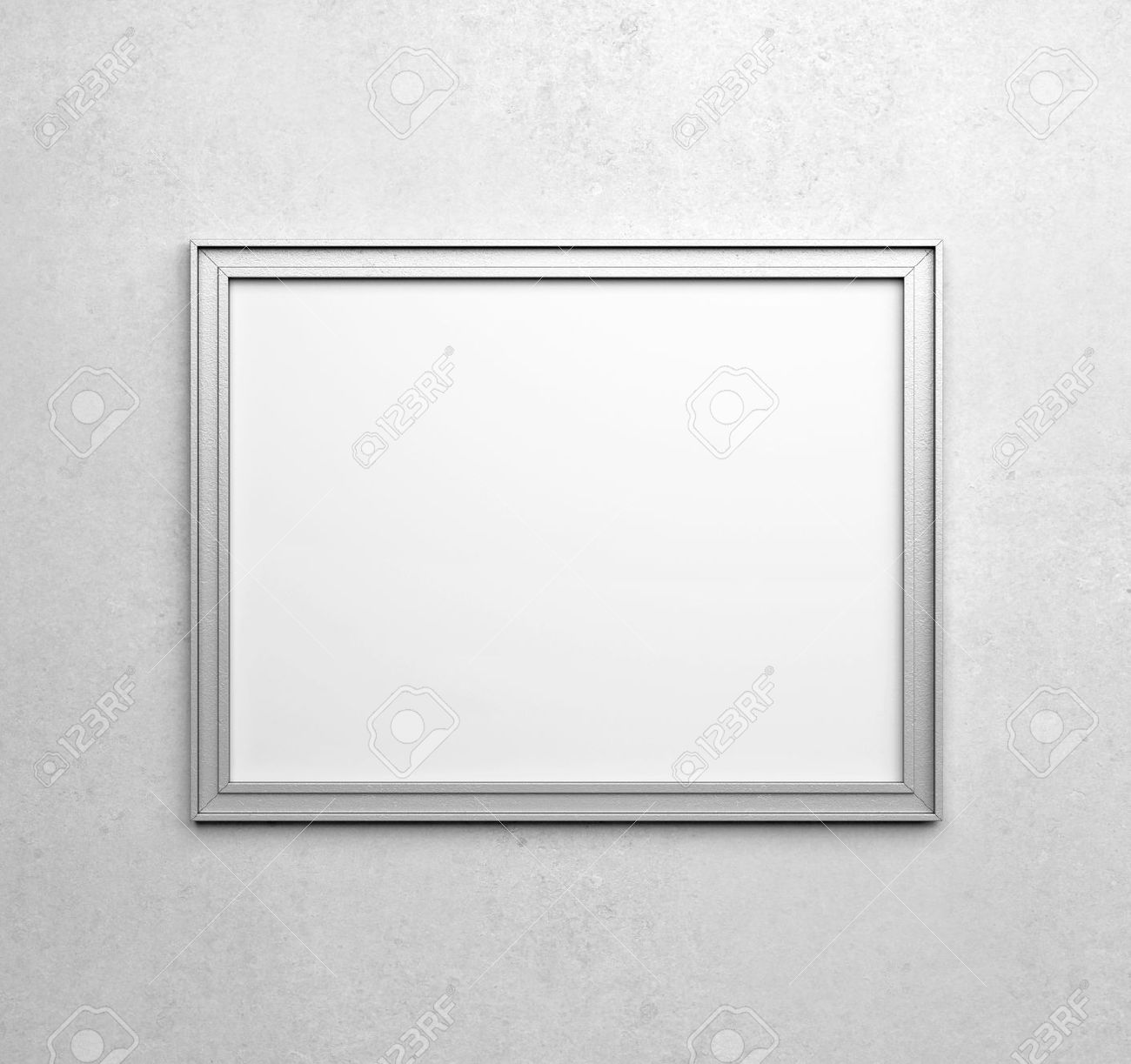 Silver Frames On White Wall Stock Photo, Picture And Royalty Free ...