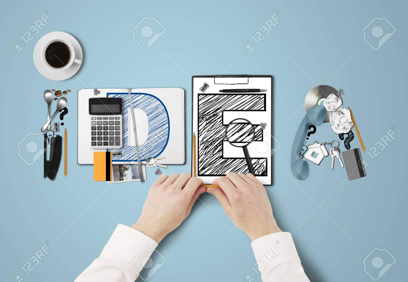 word idea built of business subjects and hands Stock Photo - 21284504