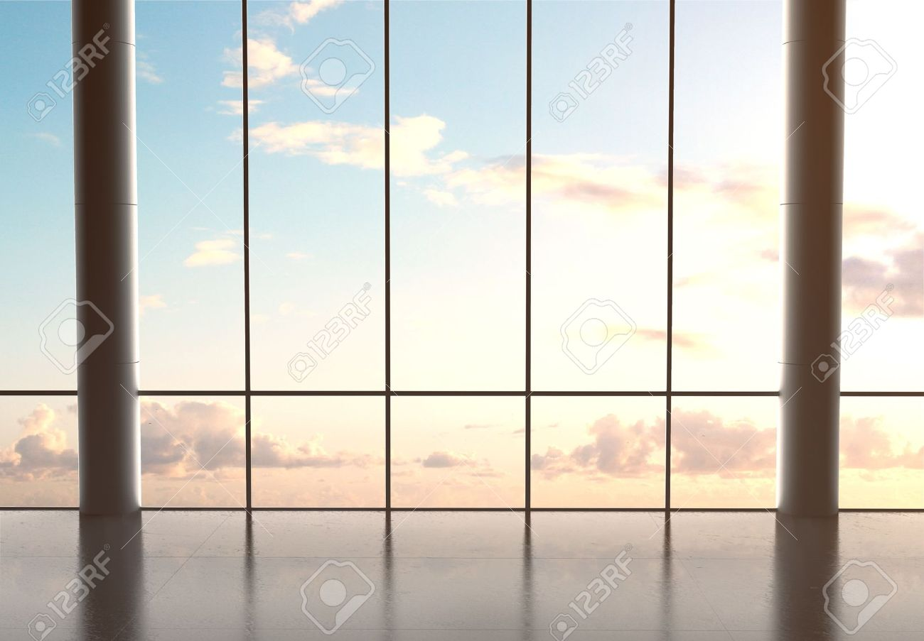 big hall airport and blue sky Stock Photo - 21352400