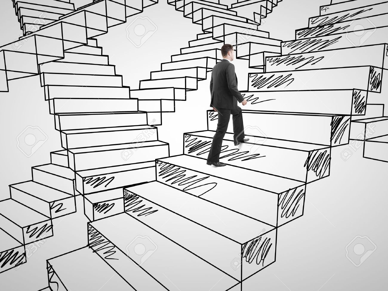 3d Staircase Drawing on Drawing Stairs Photo