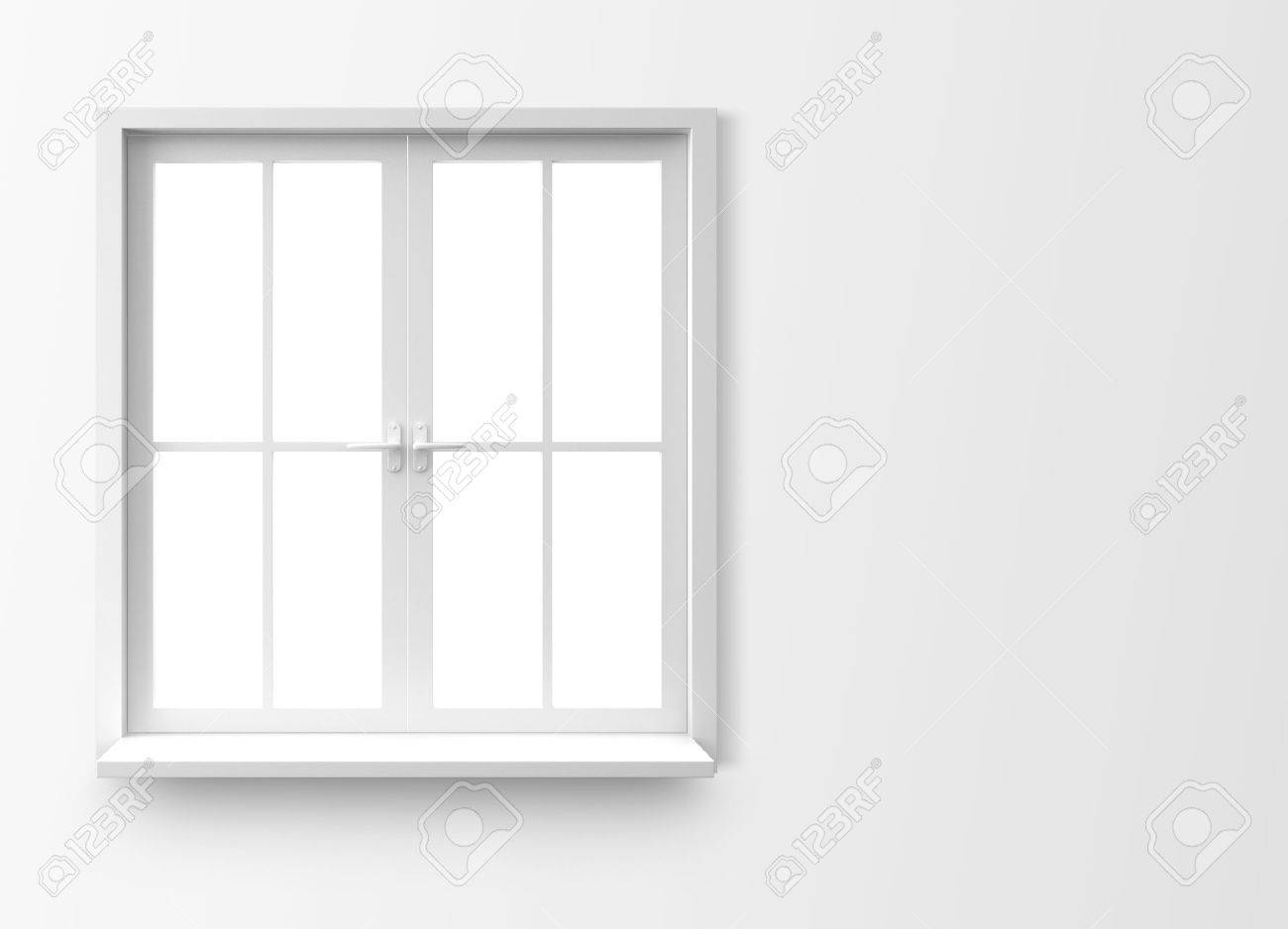 White window frame - Stock Photo Window Isolated On White Background
