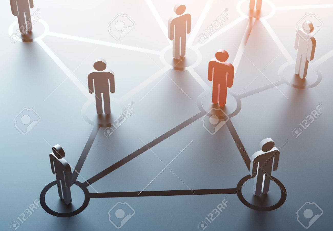 group of people talking in social network Stock Photo - 41901236