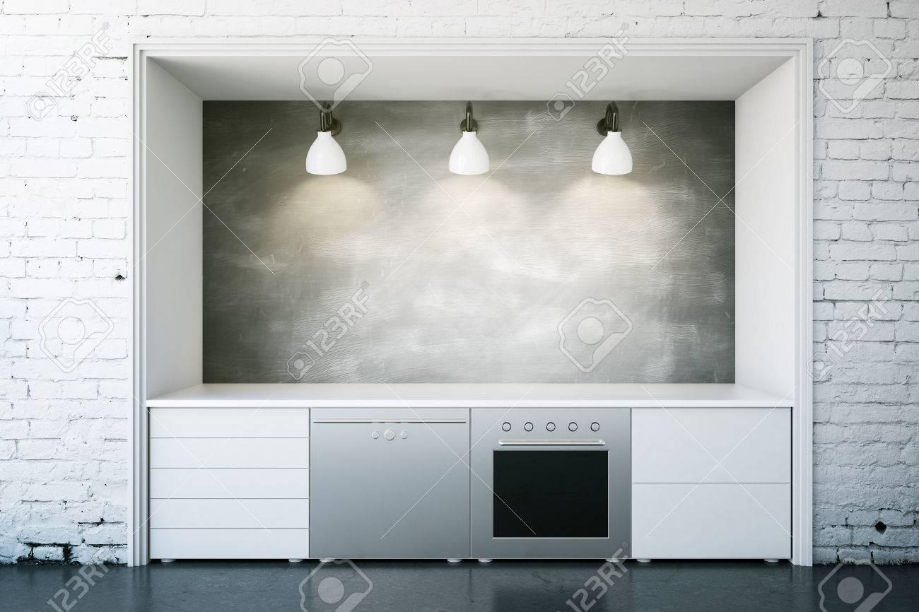 Azulejos Blancos Cocina Gallery Of Gabinetes De Cocina Gris Con  ~ Azulejo Imitacion Ladrillo Blanco