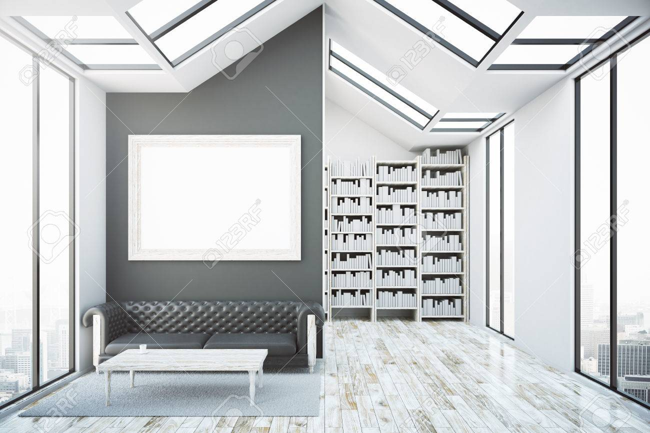 Sensational Creative Bright Interior With Blank Picture Frame Luxurious Short Links Chair Design For Home Short Linksinfo