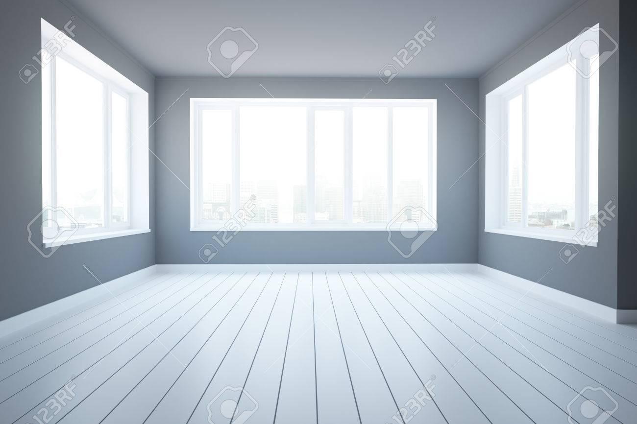 Pareti In Legno Moderne : Interni moderni con pareti in cemento pavimento in legno e vista