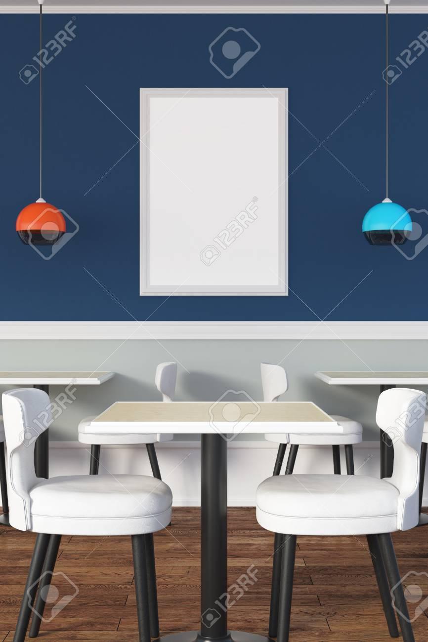 De Affiche Nouvel 3d PublicitéMaquetteRendu Café VideConcept TablesChaisesLampes Une Et Intérieur Des Avec OXkPnw80