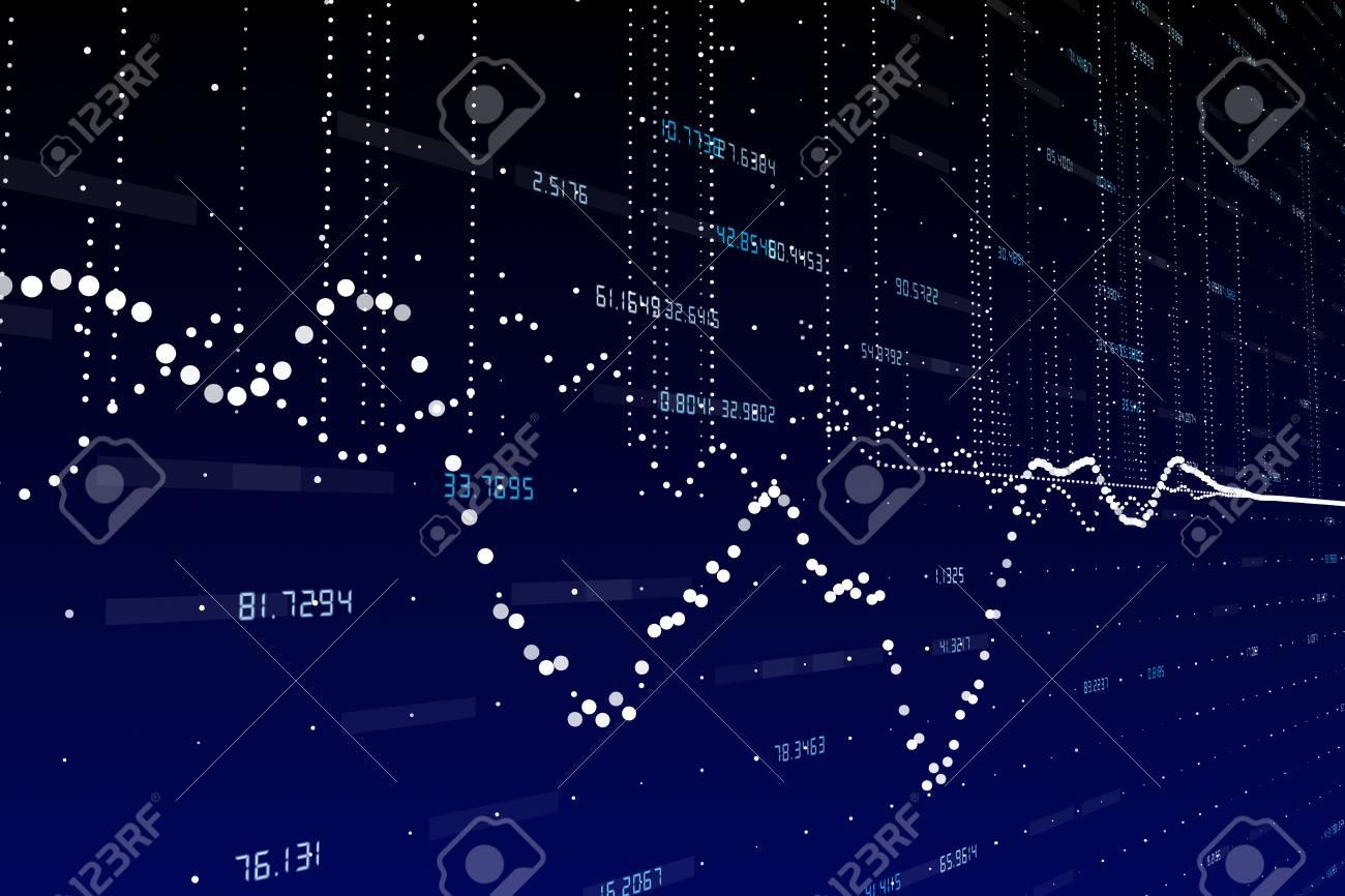 Abstract Forex Chart Wallpaper Finance And Trade Concept 3D Rendering Stock Photo