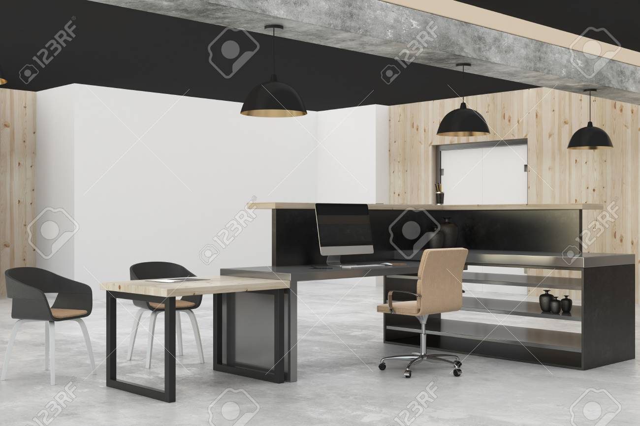 Modern Office Interior. Occupation And Design Concept. 3D Rendering Stock  Photo   94297927