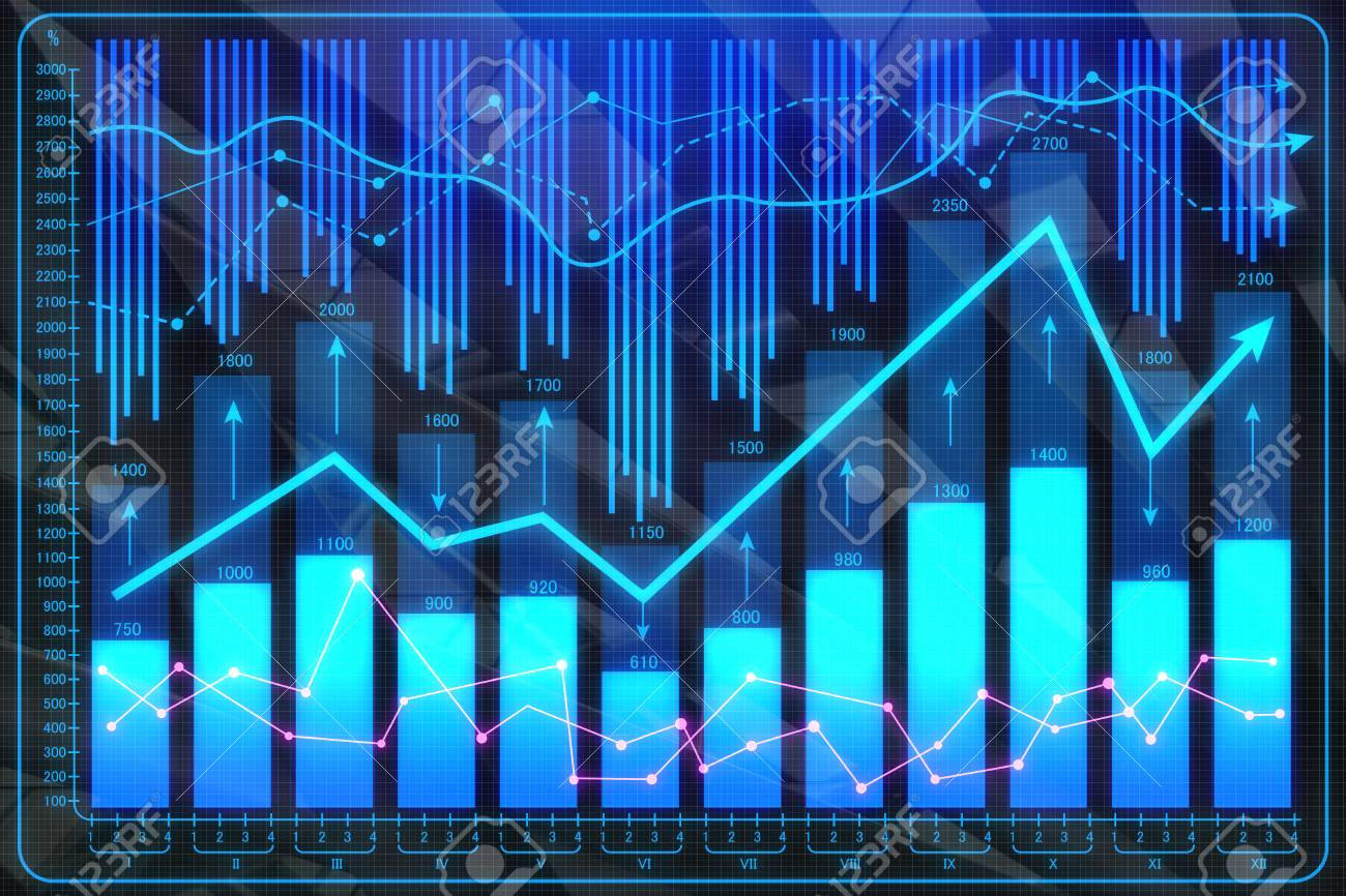 Creative Forex Wallpaper Investment And Finance Concept 3D Rendering Stock Photo