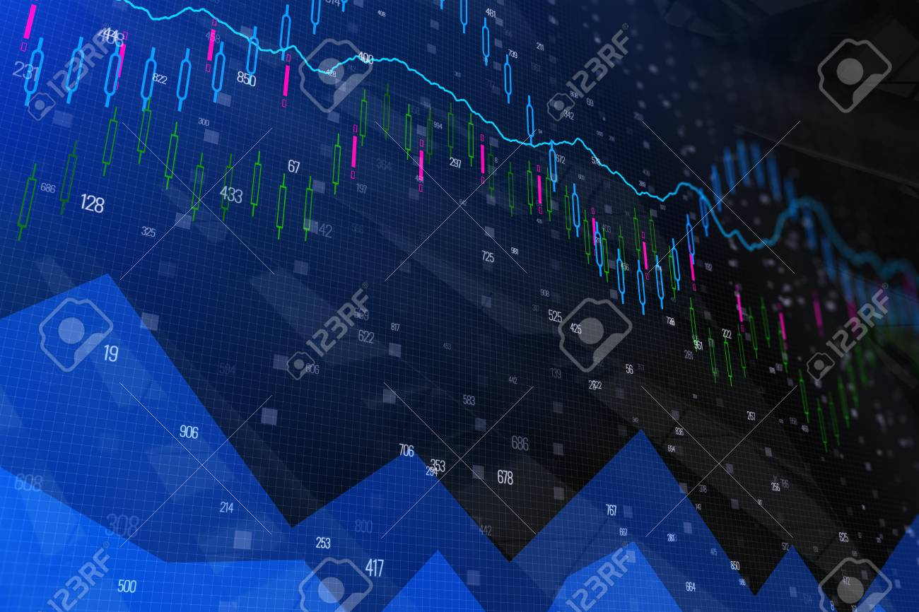 Abstract Forex Wallpaper Investment And Finance Concept 3D Rendering Stock Photo