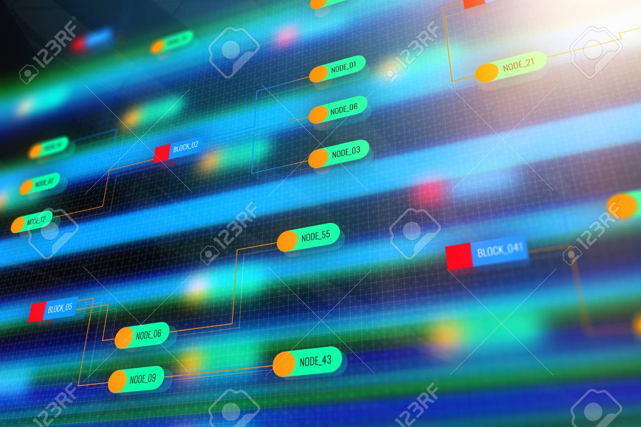 Abstract Colorful Technology Node Wallpaper Semiconductor Manufacturing Process And Design Concept 3D Rendering Stock