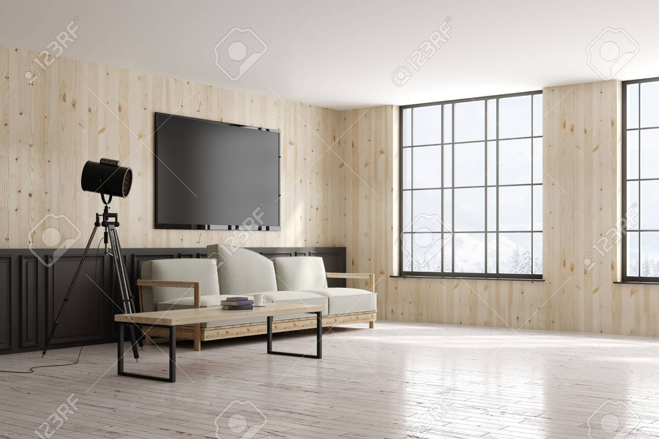 Side View Of Modern Design Style Living Room Interior With Furniture Stock Photo Picture And Royalty Free Image Image 99405412