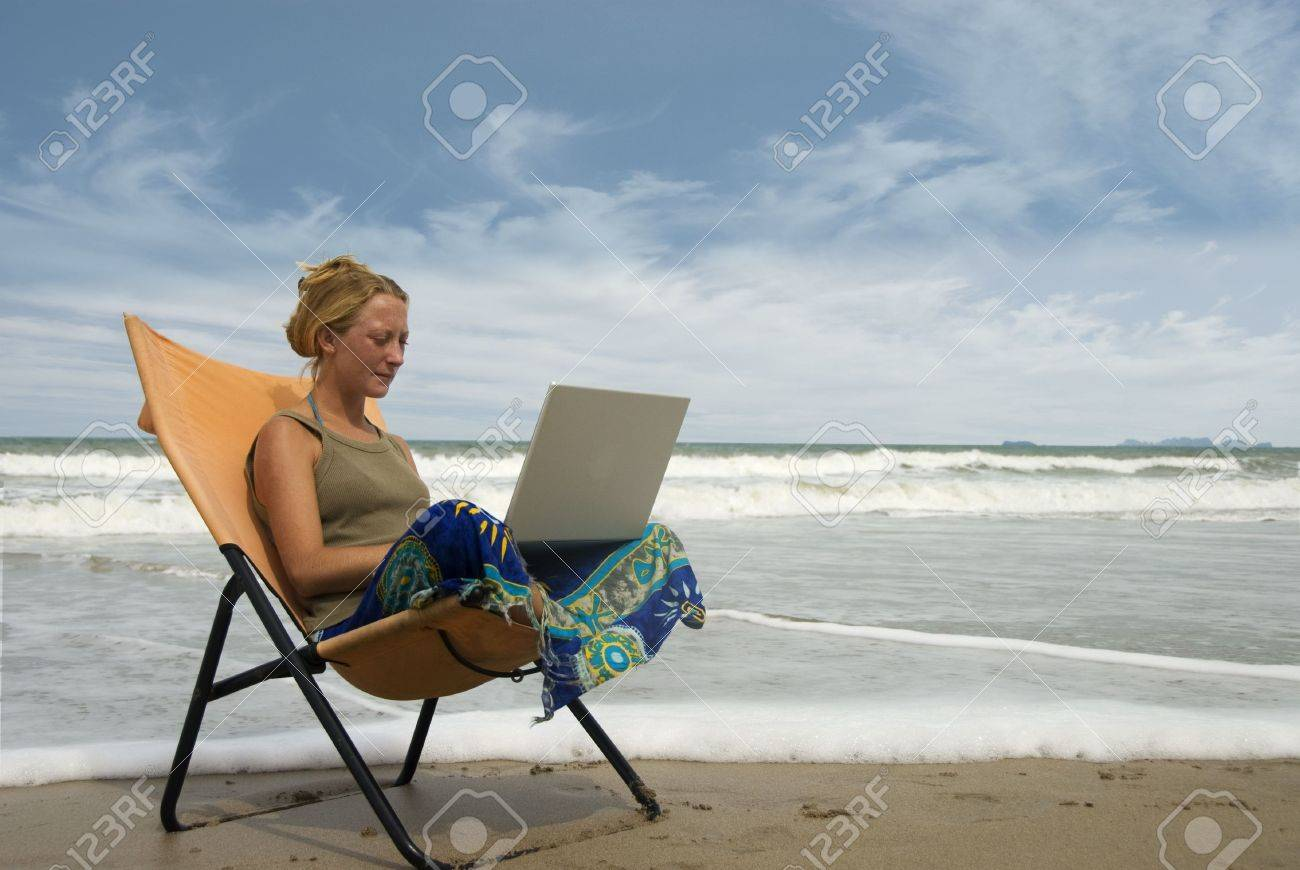 Writing a paper on the beach?