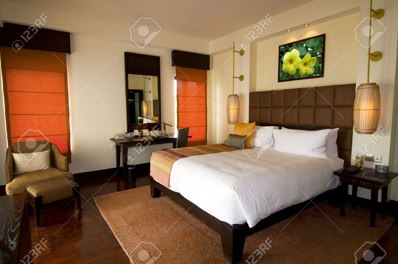 Oriental Style Hotel Room At Spa Resort Stock Photo Picture And .