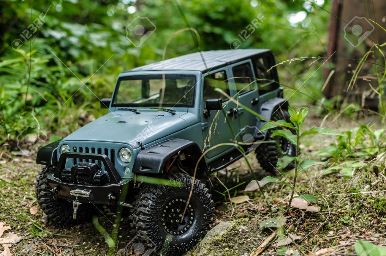 Car In Woods Rock Crowler Car Rc Stock Photo Picture And Royalty