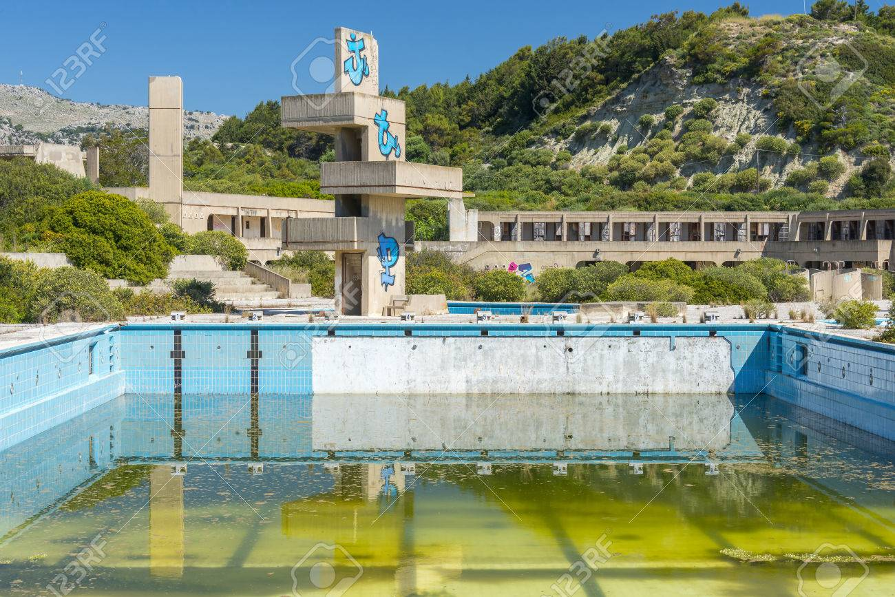 An Abandoned Lido Complex On The Island Of Rhodes In Greece Where Stock Photo Picture And Royalty Free Image Image 41560474