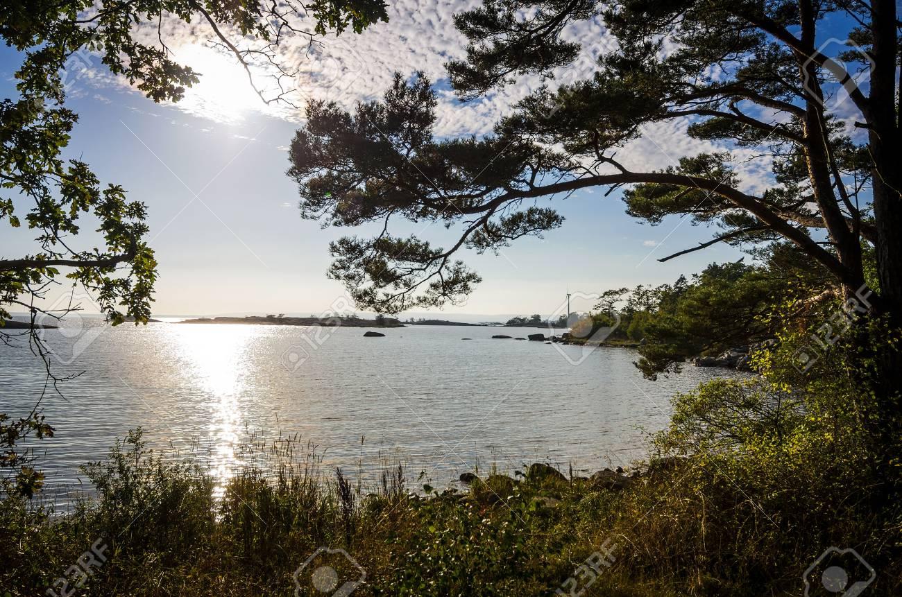 Mer Paysage Dautomne En Suède