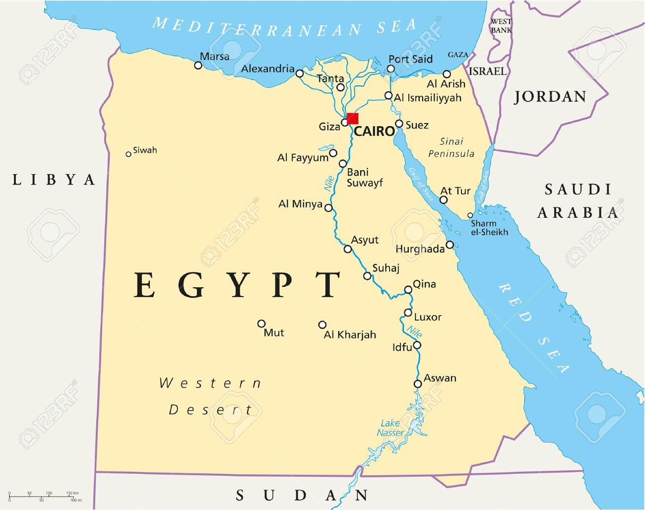 Karte Von Agypten Lizenzfrei Nutzbare Vektorgrafiken Clip Arts