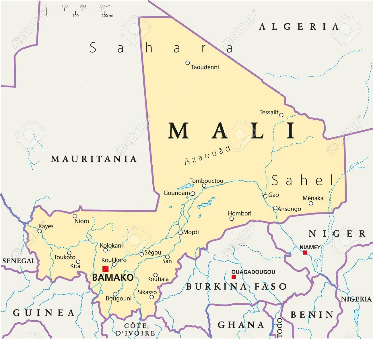 Mali Political Map Royalty Free Cliparts, Vectors, And Stock ...