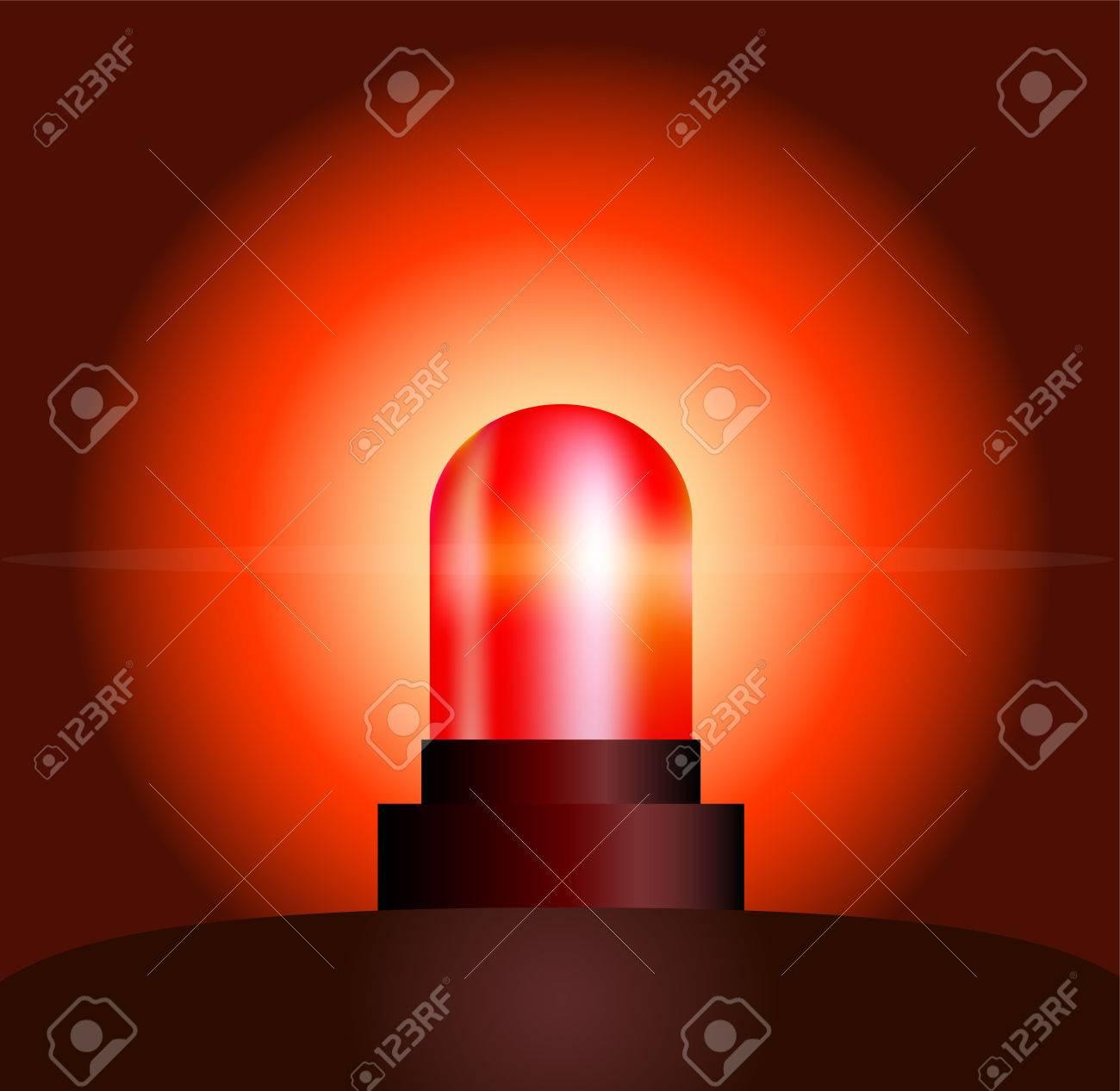 Garishly shining red light, that warns of danger Stock Vector - 24541207