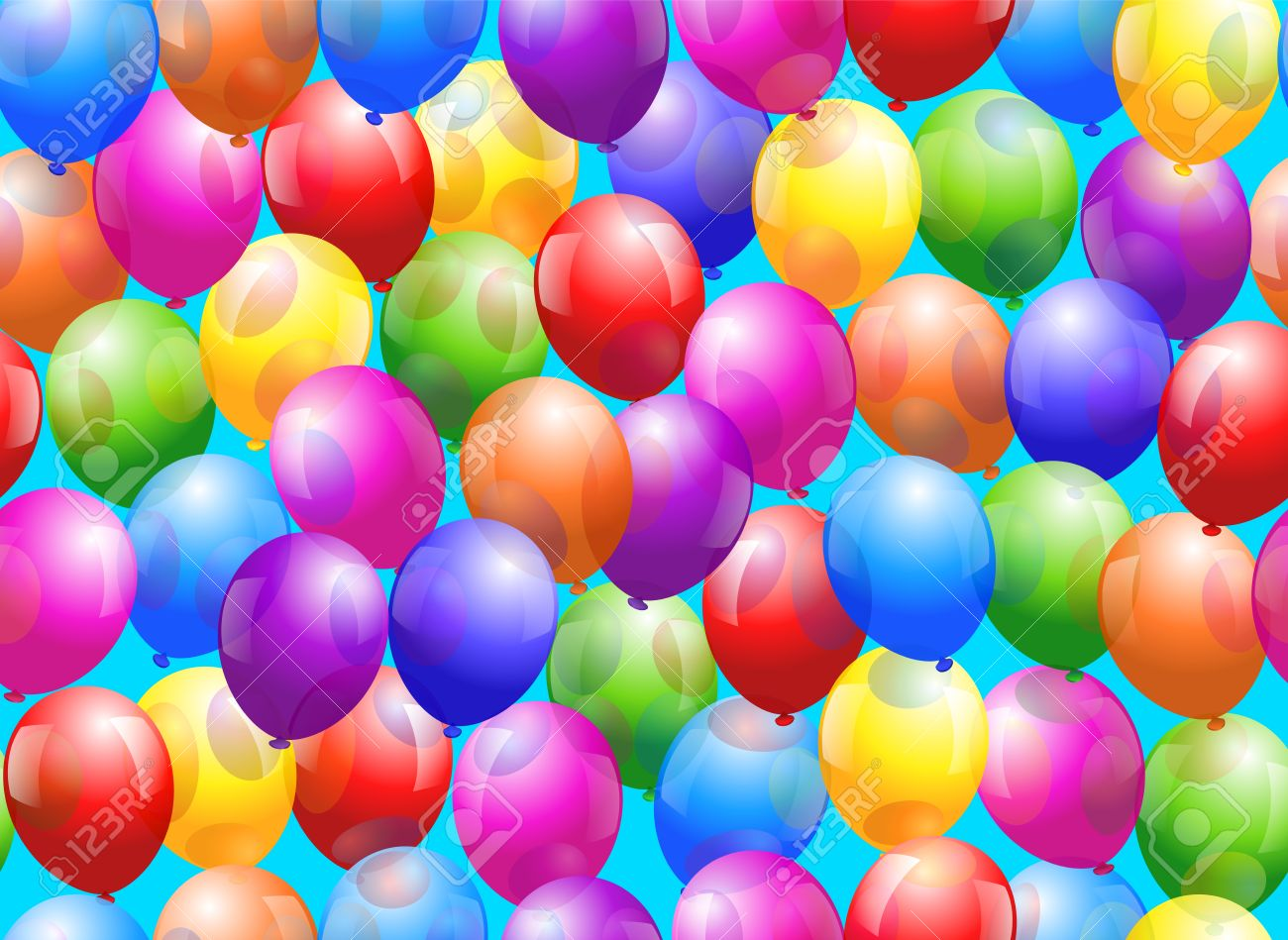 Colorful Glossy Balloons
