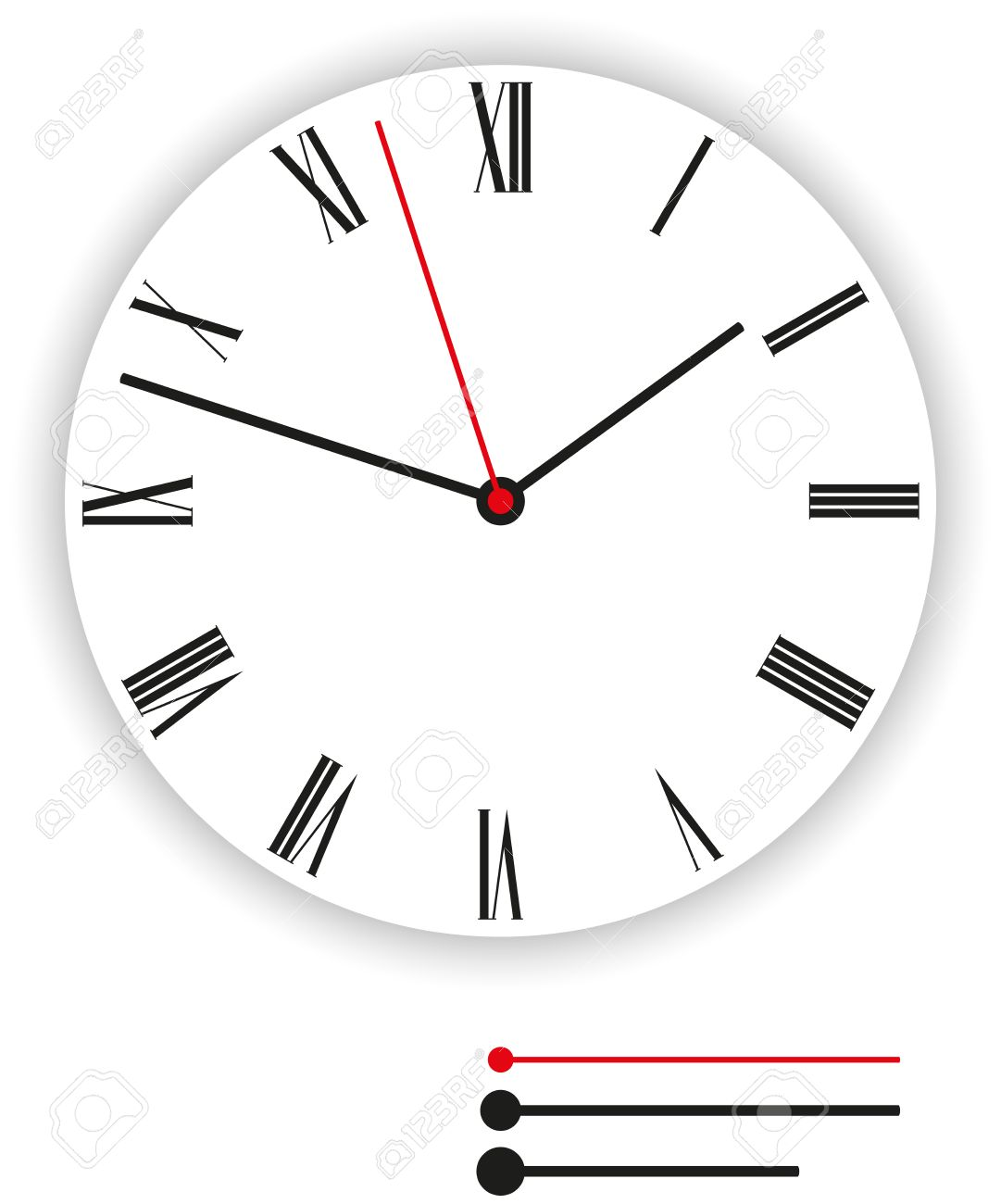 Clock Face Classic - Illustration of a classic clock face dial