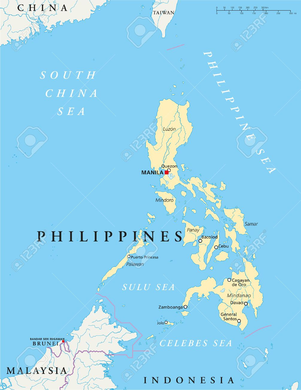 Philippines Political Map Philippines Political Map With Capital - Map of the philippines cities