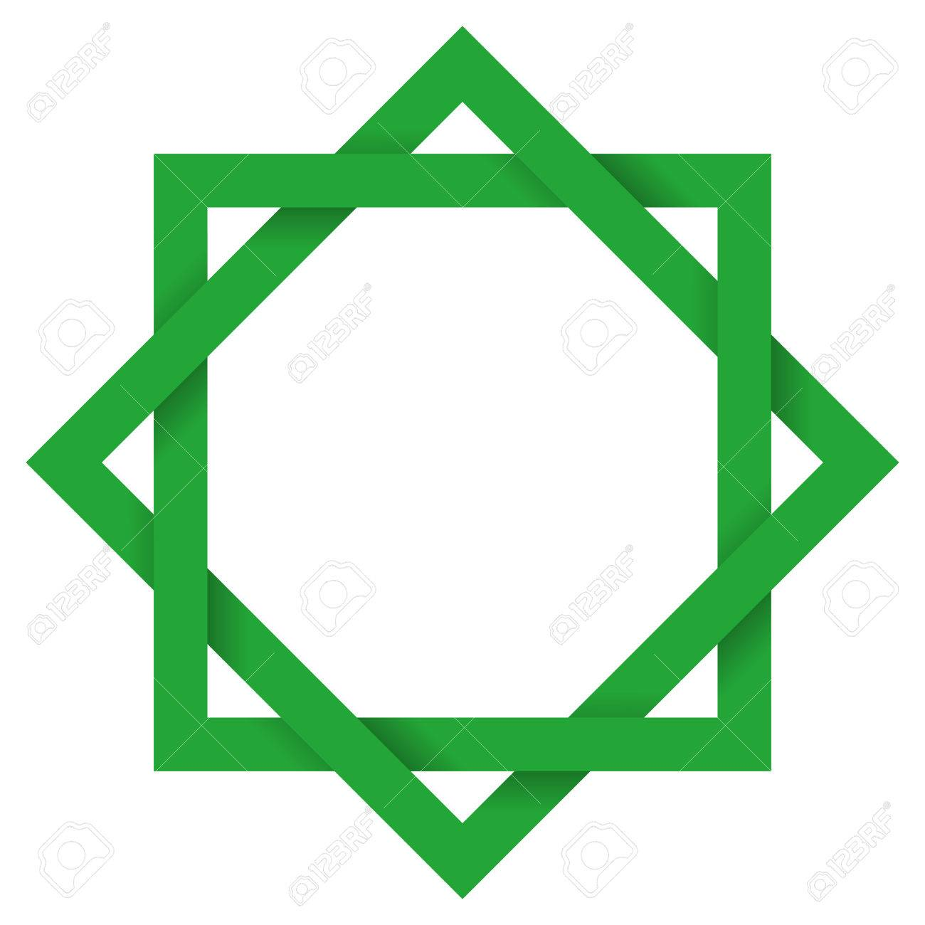 Green octagram 3d the eight pointed geometric star figure is green octagram 3d the eight pointed geometric star figure is the compound of two buycottarizona