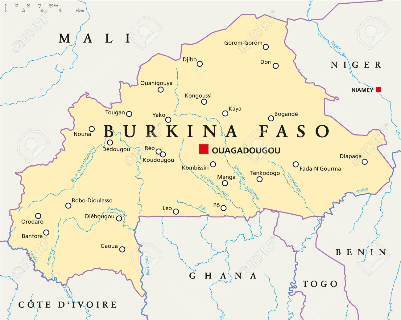 Image result for Burkina Faso Map