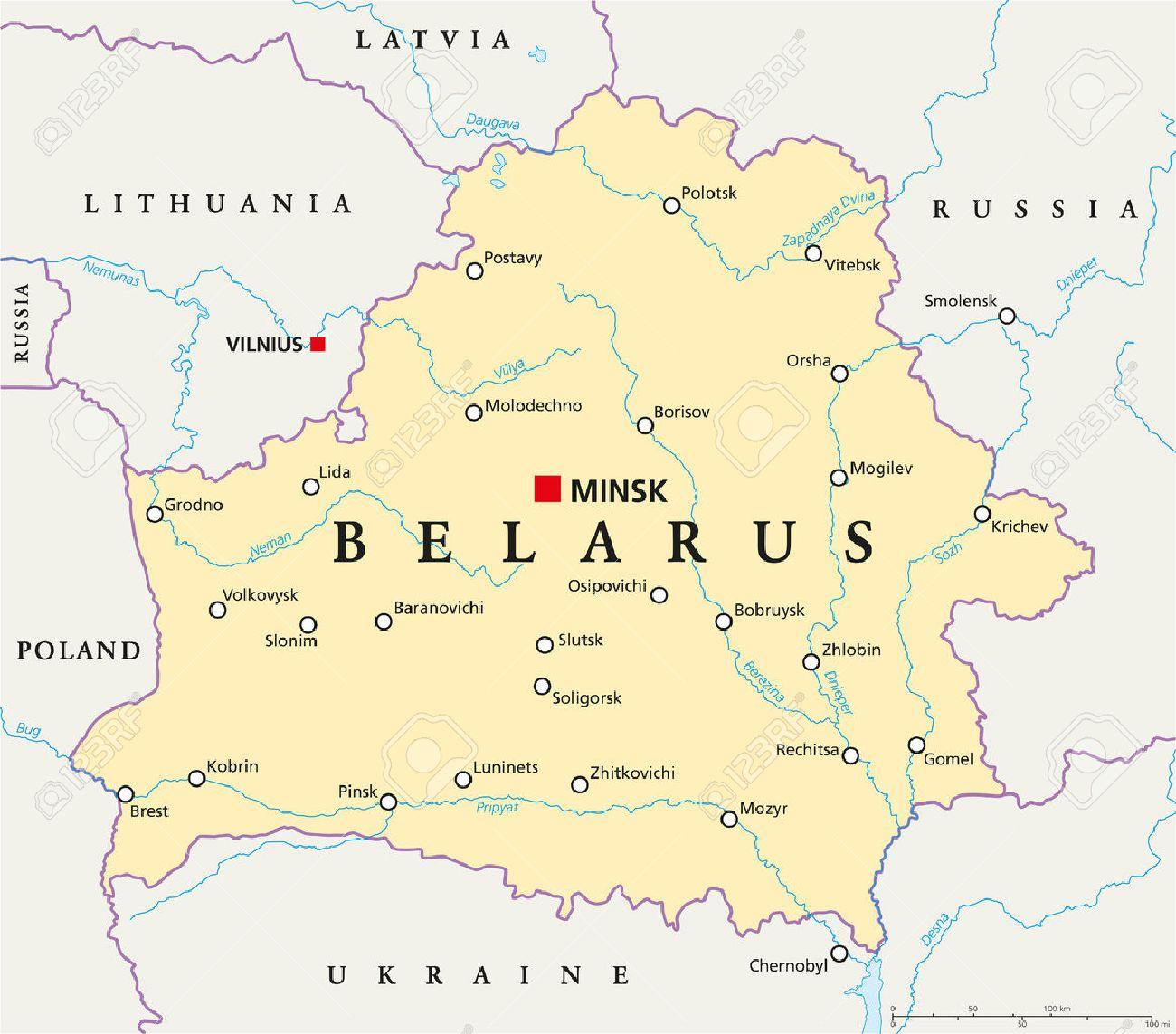 Belarus Politische Karte Mit Der Hauptstadt Minsk Nationale Grenzen Wichtige Stadte Flusse Und Seen Lizenzfrei Nutzbare Vektorgrafiken Clip Arts Illustrationen Image 36855005