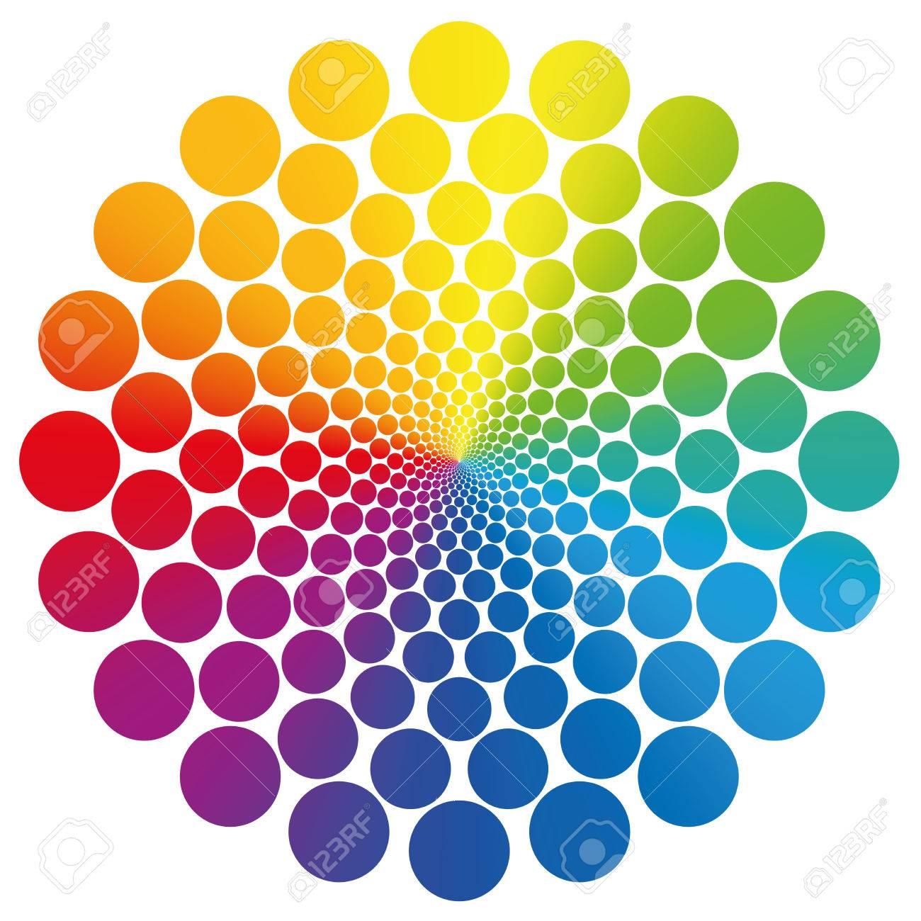 símbolo de la flor gráfica hecha de geométricamente dispuestos de