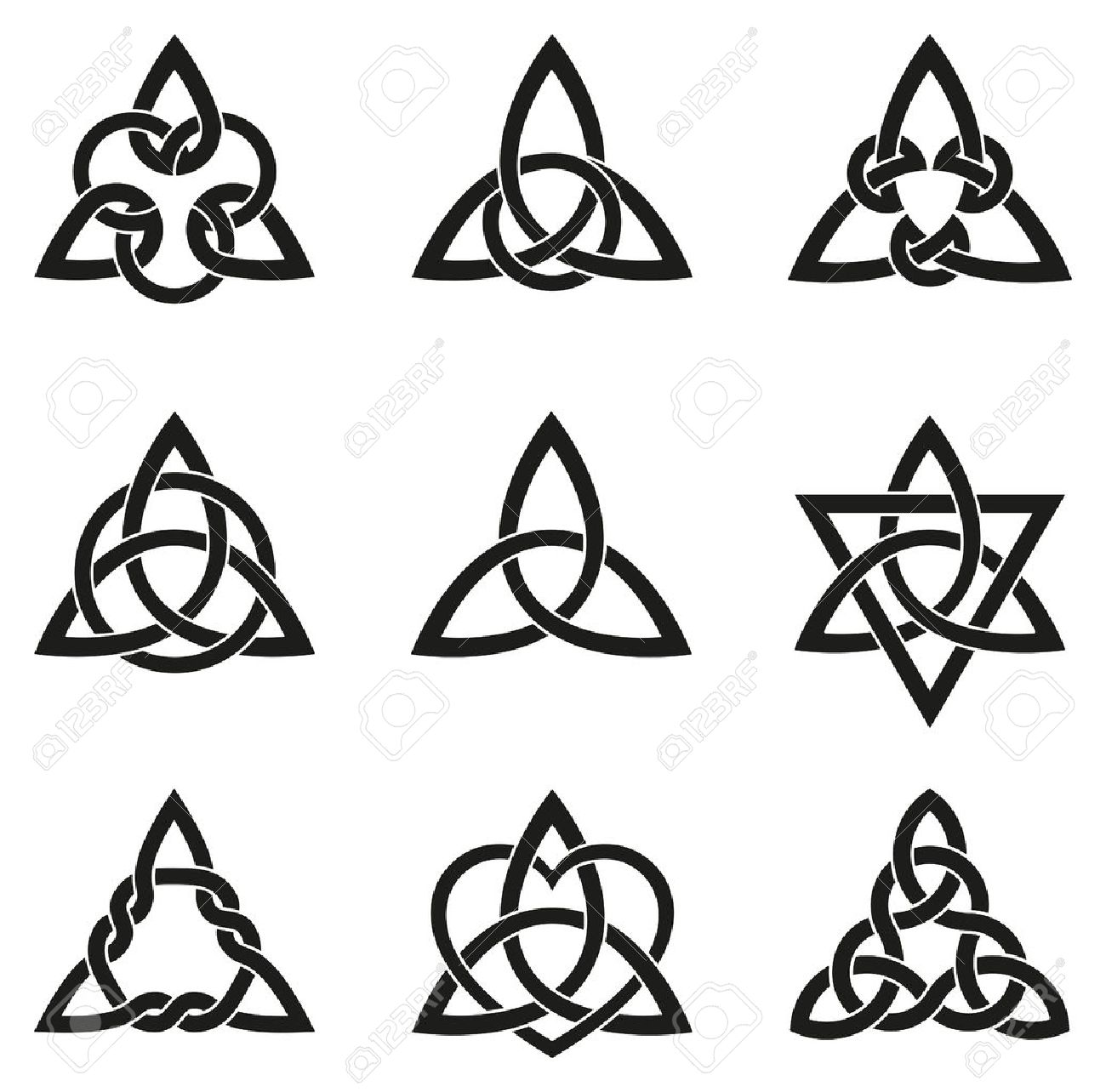 A variety of celtic knots used for decoration or tattoos nine a variety of celtic knots used for decoration or tattoos nine endless basket weave knots buycottarizona