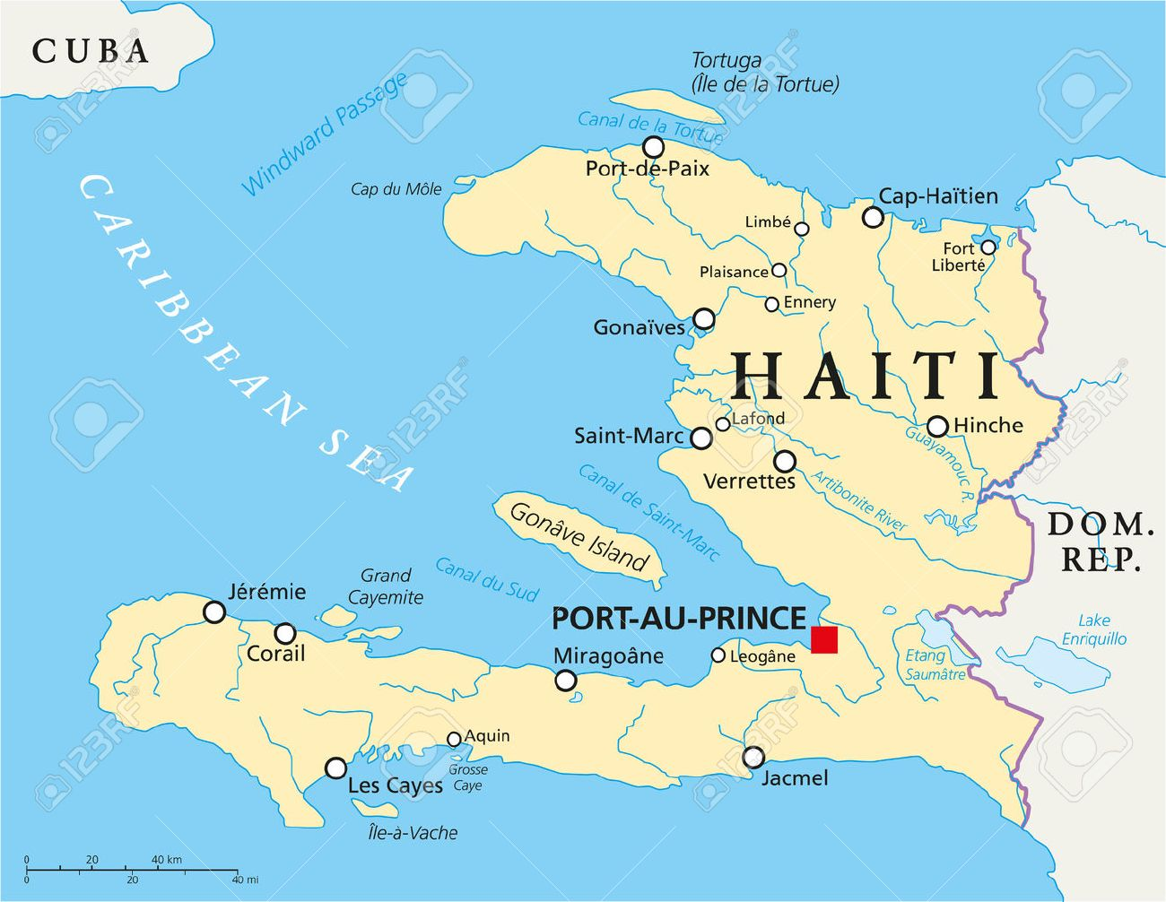 Haiti political map with capital port au prince with national haiti political map with capital port au prince with national borders important gumiabroncs Choice Image