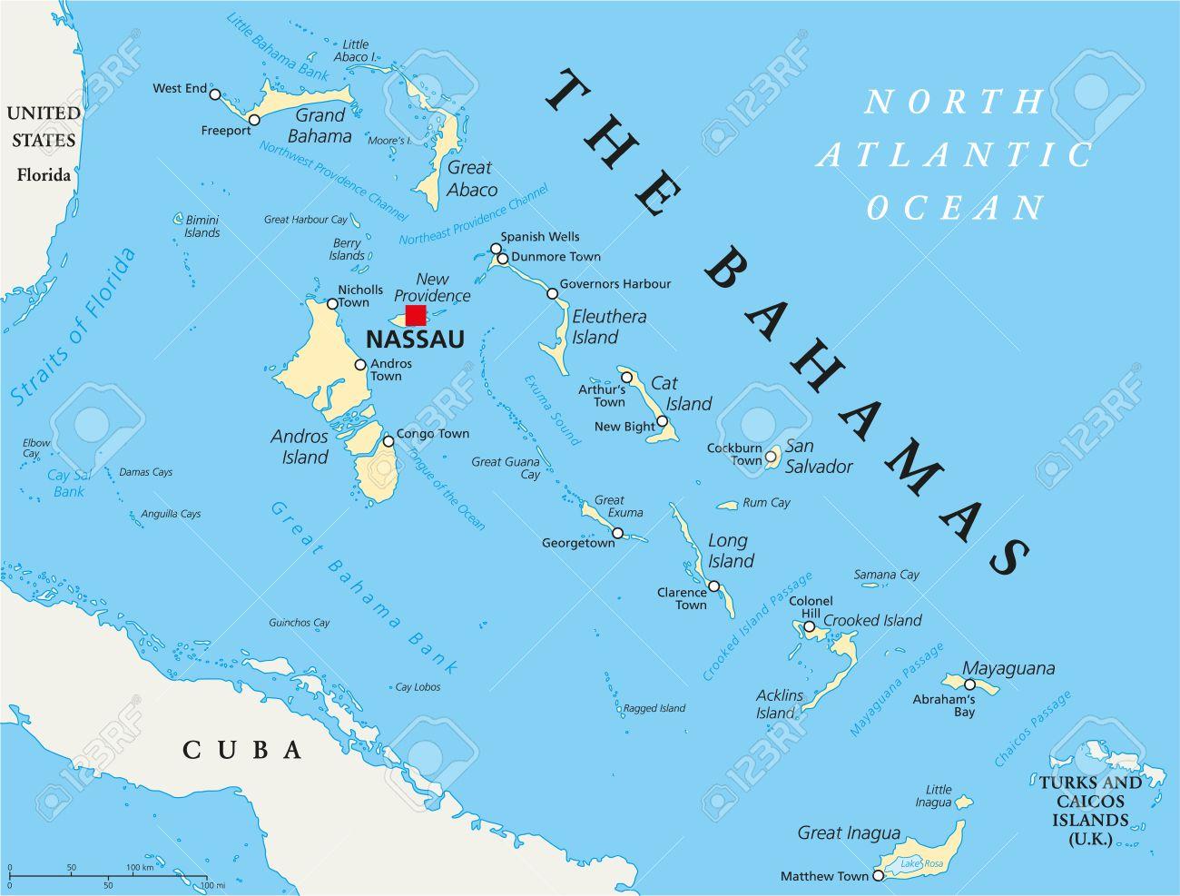 Bahami - Page 2 39055270-el-mapa-pol%C3%ADtico-bahamas-con-un-capital-de-nassau-ciudades-y-lugares-importantes-etiquetado-y-escalado