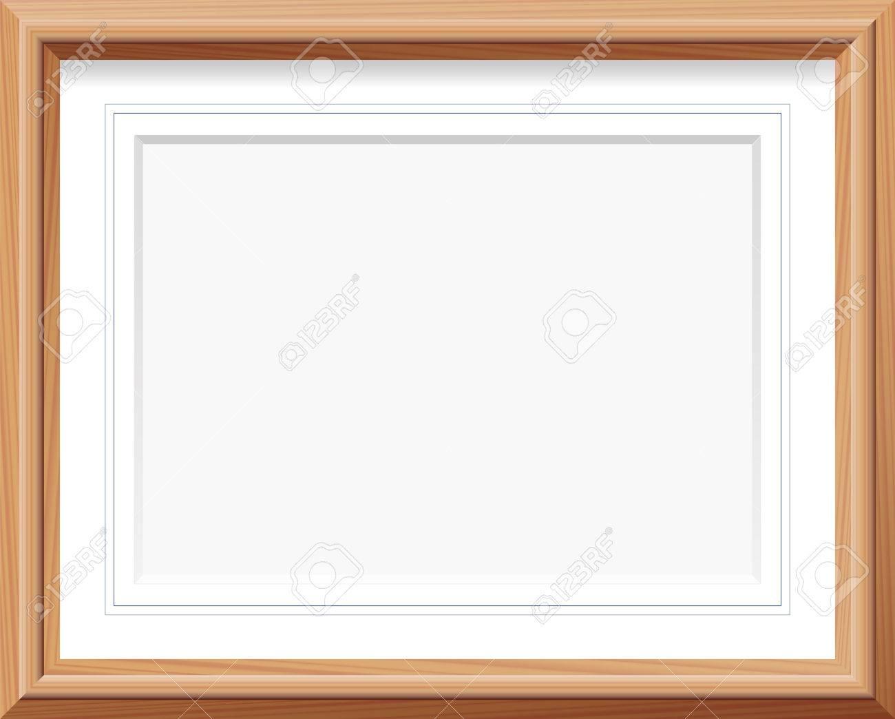 Horizontal Holz-Bilderrahmen Mit Matte Und Französisch Linien ...