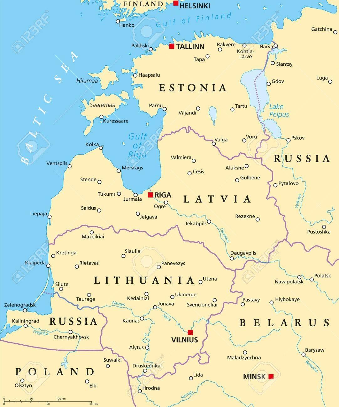 pays baltes carte - Image
