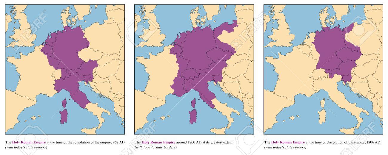 Heiliges Römisches Reich Karte.Stock Photo