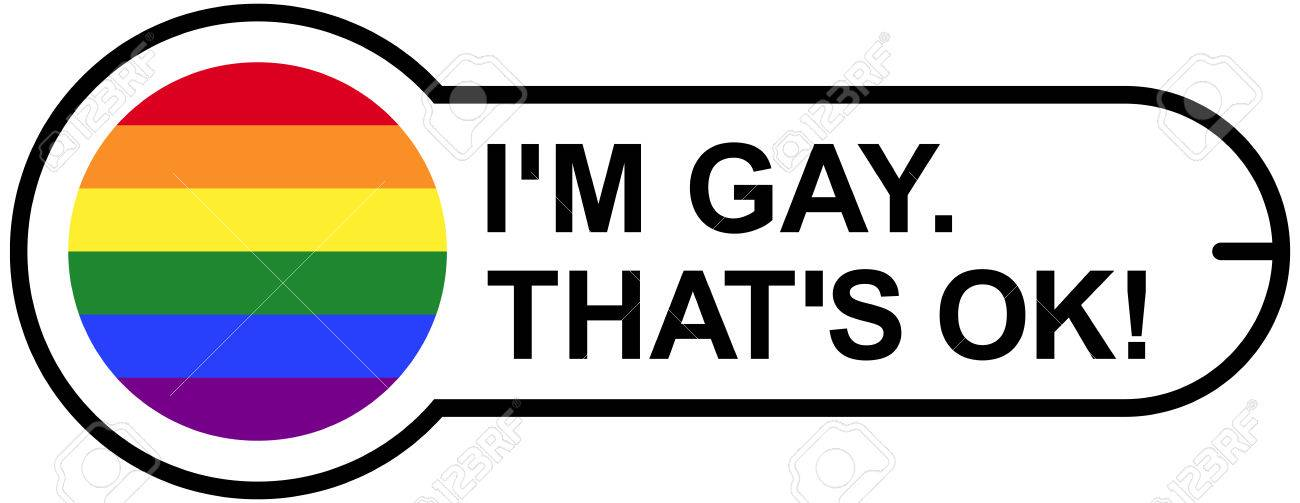 gay ok sticker with gay pride rainbow flag isolated illustration rh 123rf com gay pride colors and what they mean gay pride logos and designs
