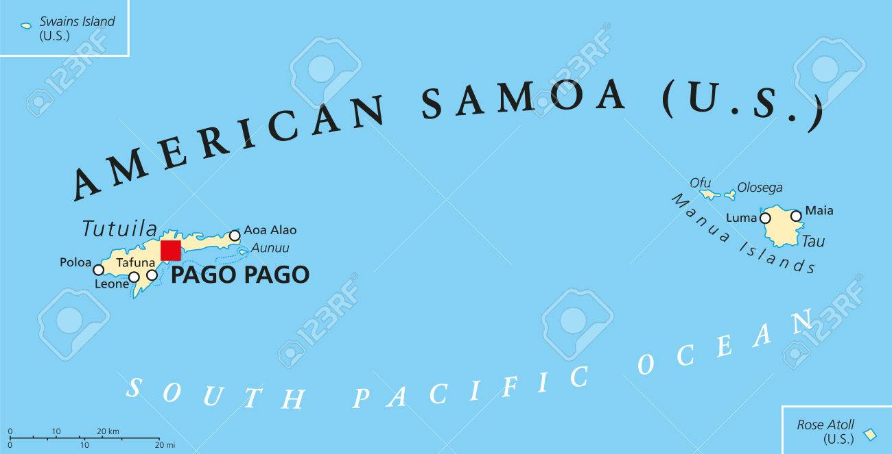 American Samoa political map with capital Pago Pago is an United.. on transjordan on the map, seborga on the map, philippines on the map, sao tome and principe on the map, virgin islands on the map, aland on the map, kingman reef on the map, japan on the map, punjab india on the map, the gambia on the map, alaska on the map, micronesia on the map, saint helena on the map, guam on the map, spratly islands on the map, malay peninsula on the map, solomon island on the map, jordan on the map, kuril islands on the map, east africa on the map,