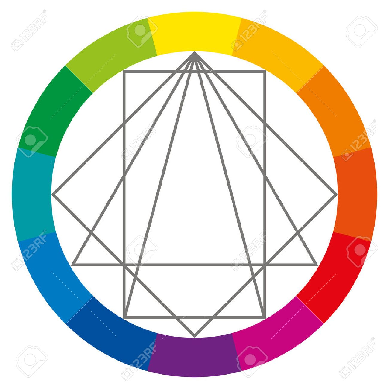 Color wheel complementary colors - Color Wheel Showing Complementary Colors That Are Used In Art And Paintings Square Rectangle