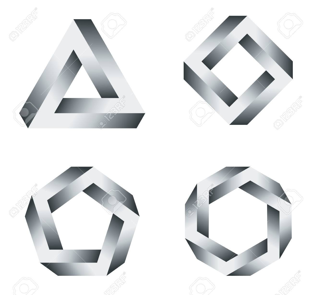 Pen Rose Triangle And Polygons With Black And White Gradients ... for Triangle Objects Clipart Black And White  269ane