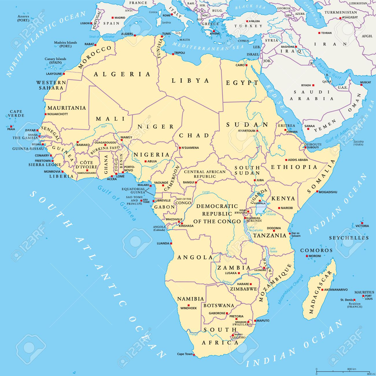 World oceans and seas map oceans and seas map of the world best africa political map with capitals national borders rivers and world map with oceans seas and gumiabroncs Gallery