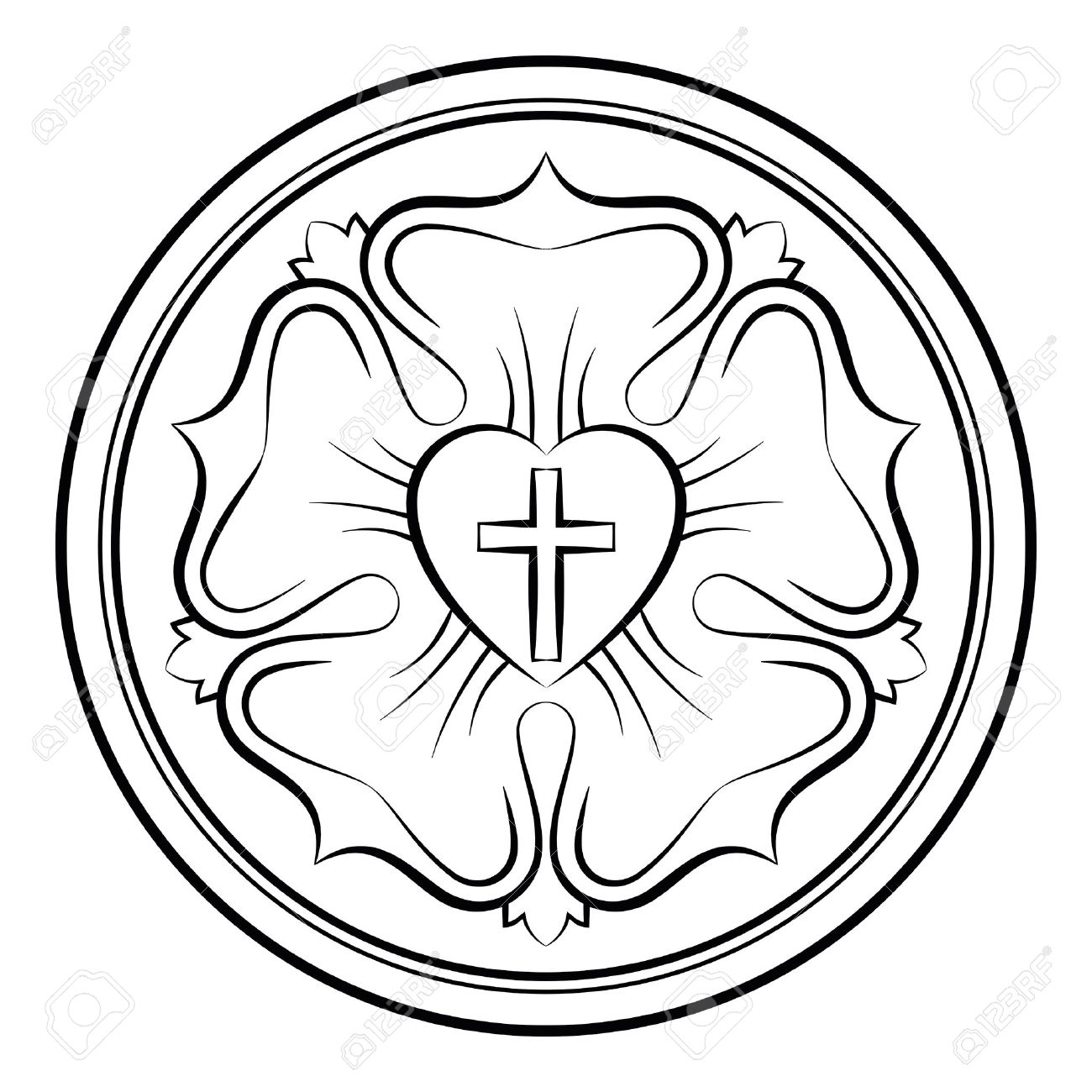 Luther rose monochrome calligraphic illustration also luther luther rose monochrome calligraphic illustration also luther seal symbol of lutheranism expression of buycottarizona