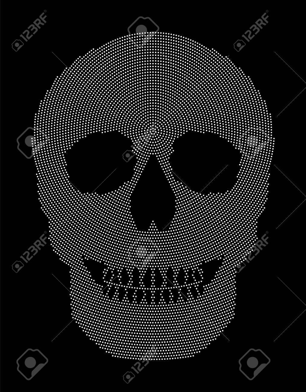 Cráneo Del Modelo De Punto Radial. Símbolo De La Estructura ósea De ...