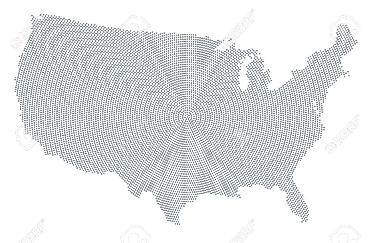 Usa Karte Ohne Staaten.Stock Photo