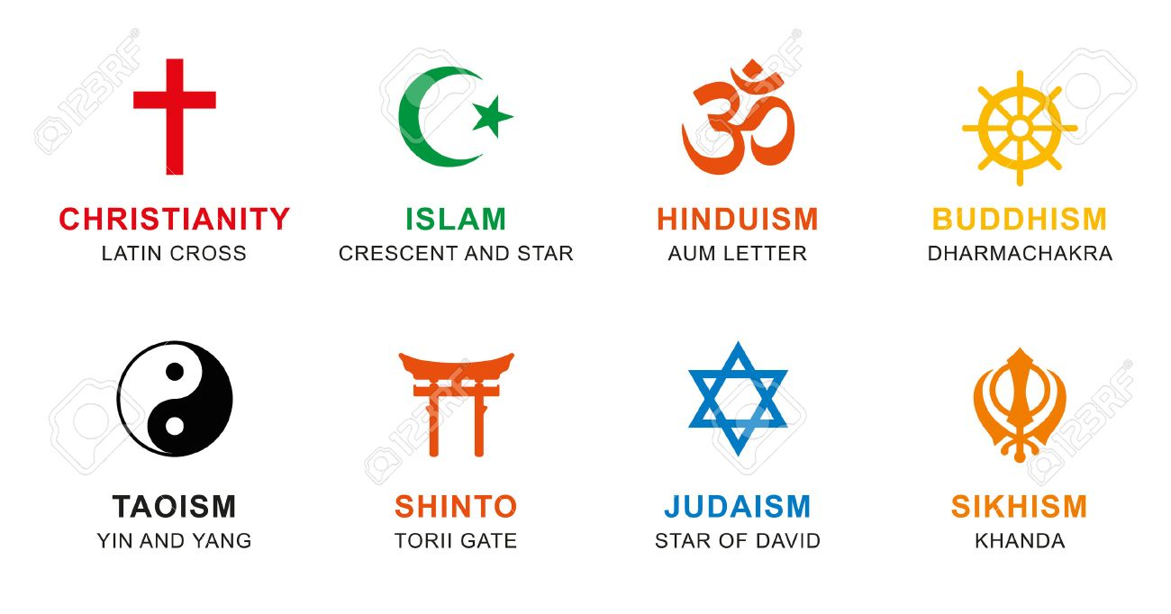 World religion symbols colored signs of major religious groups world religion symbols colored signs of major religious groups and religions christianity islam buycottarizona
