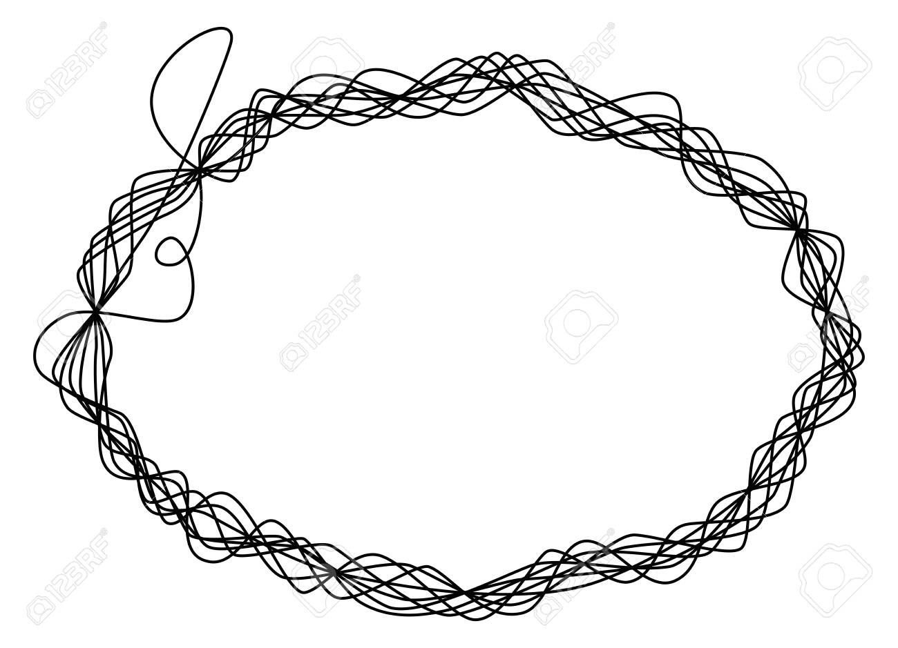 Single Thread Frame. One Single Line Is Eight Times Wrapped Around ...