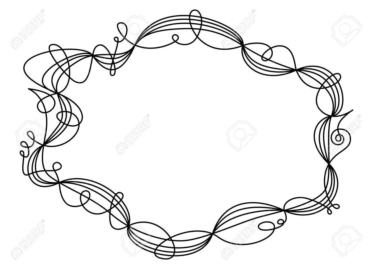 Einzel Schaukel Gewinde Rahmen. Dekorative Ornament Und Grenze Für ...