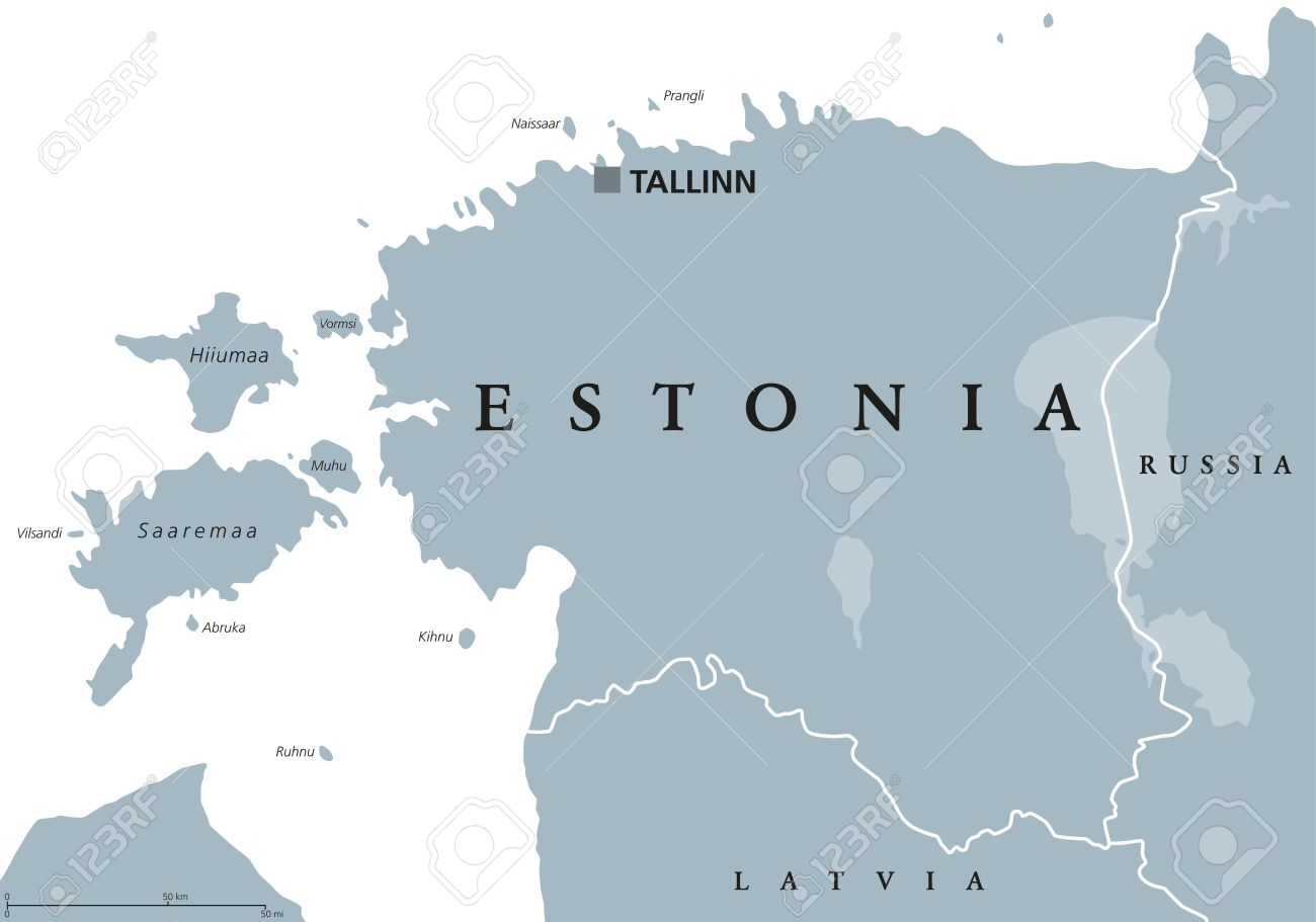 Estonia Political Map With Capital Tallinn National Borders Royalty Free Cliparts Vectors And Stock Illustration Image 72738823