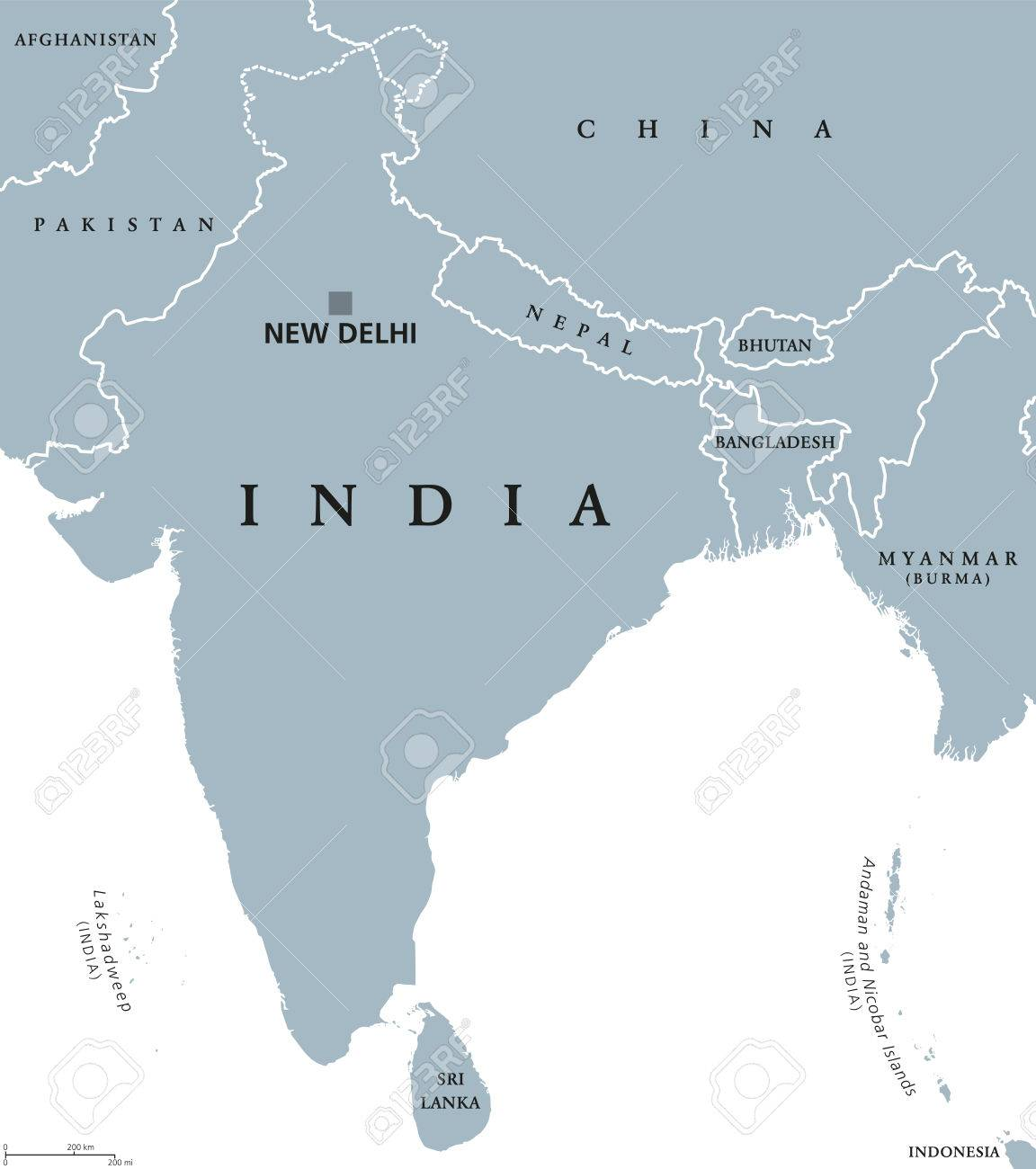 India political map with capital new delhi national borders india political map with capital new delhi national borders and neighbor countries republic and freerunsca Gallery